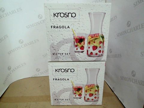 Lot 408 LOT OF 2 ASSORTED BRAND NEW SETS OF KROSNO FRAGOLA COLLECTION WATER SETS