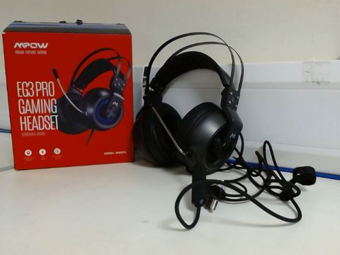 Lot 9431 MPOW EG3 PRO GAMING HEADSET - STEREO SURROUND SOUND XBOX GAMING HEADSET WITH NOISE CANCELLATION MIC & IN-LINE CONTROL, OVER-EAR GAMING HEADPHONES