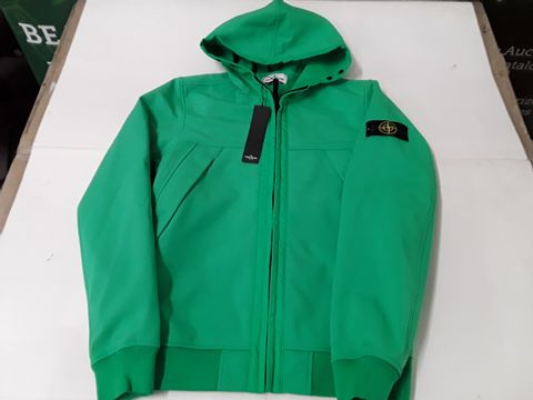 Lot 24 STONE ISLAND JUNIOUR LIGHT OVER COAT IN GREEN - 14 YEARS