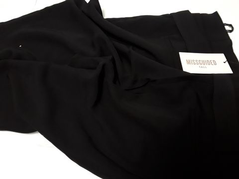 Lot 2069 DESIGNER MISGUIDED TALL PAPERBAG CIGARETTE TROUSERS SIZE UK 12