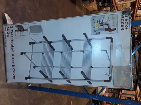Lot 2283 BLACK AND DECKER 3-TIER HEATED 300W AIRED AND COVER