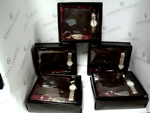 Lot 17594 A BOX OF A SET OF 5 MY WISH COLLEZION WATCH, WAKLLET AND KEYRING