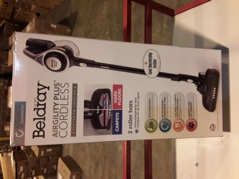 Lot 3298 BELDRAY AIRGILITY + CORDLESS VACUUM CLEANER