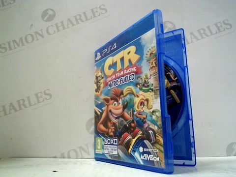 Lot 3035 CTR CRASH TEAM RACING: NITRO FUELLED PLAYSTATION 4 GAME