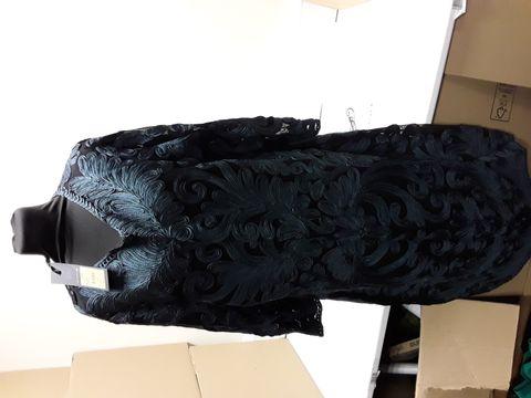 Lot 2067 DESIGNER PHASE EIGHT NIKKI BLACK/PETROL TSPEWORK DRESS SIZE UK 20 RRP £199.00