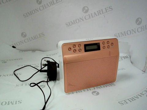Lot 12377 AKAI PORTABLE DAB RADIO WITH ALARM CLOCK FUNCTION