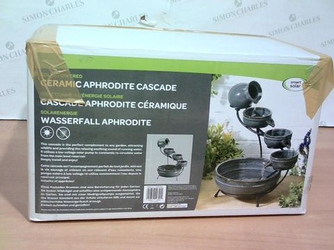 Lot 1283 APHRODITE CASCASE SOLAR POWERED WATER FEATURE