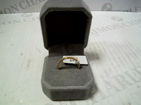 Lot 3072 DESIGNER GOLD TONE RING