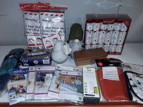 Lot 1234 LARGE QUANTITY OF ASSORTED HOUSEHOLD ITEMS TO INCLUDE KAREN DAVIES MOULDS, GNOME DOORSTOP, HOT WATER BOTTLES, INCENSE STICKS AND PICTURE FRAME