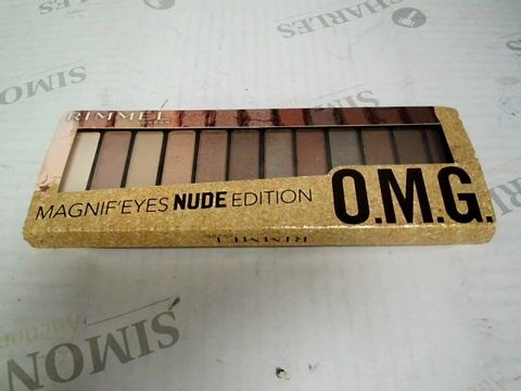 Lot 7381 RIMMEL LONDON MAGNIF'EYES NUDE EDITION EYESHADOW PALETTE - BRAND NEW