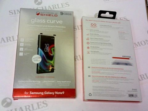 Lot 238 A BRAND NEW BOX OF APPROXIMATELY 10 INVISIBLE SHIELD GLASS CURVE FOR SAMSUNG GALAXY NOTE 9