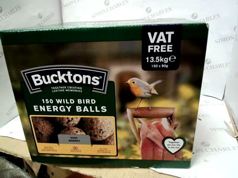 Lot 10348 BUCKTONS BOX OF APPROXIMATELY 150 WILD BIRD ENERGY BALLS
