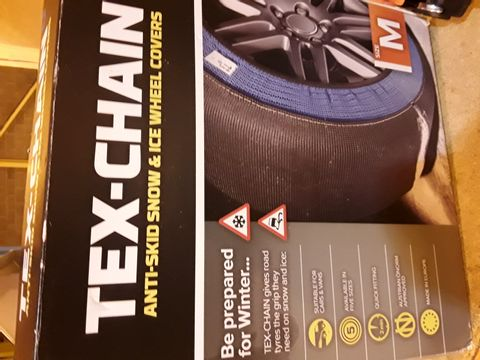 Lot 16 TEX-CHAIN ANTI SKID SNOW & ICE TYRE COVERS