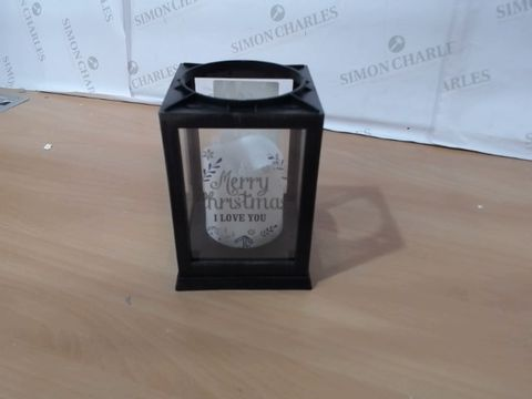 Lot 1014 PERSONALISED BLACK CHRISTMAS LANTERN RRP £24.99