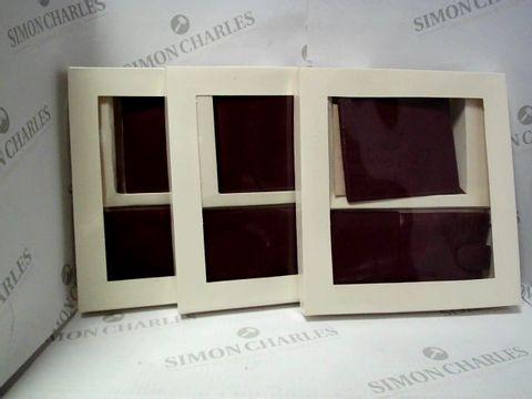 Lot 17786 LOT OF APPROXIMATELY 5 DESIGNER MAROON WALLET/GLASSES CASE SETS