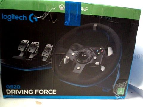 Lot 7250 LOGITECH G920 DRIVING FORCE RACING WHEEL AND FLOOR PEDALS FOR PC/MAC, XBOX ONE