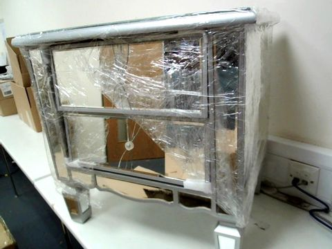 Lot 289 MIRAGE MIRRORED 2-DRAWER BEDSIDE CABINET (1 BOX) RRP £169.00