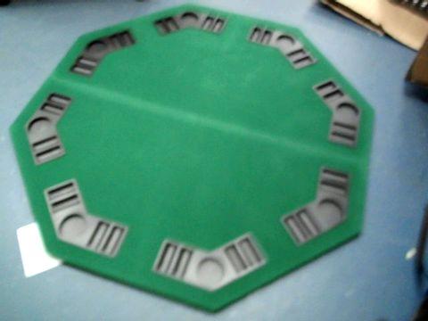 Lot 3015 HOMCOM 1.2M FOLDABLE POKER TABLE TOP