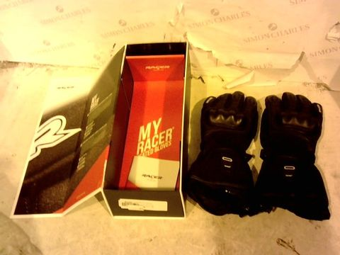 Lot 12377 RACER HEATED GLOVES FOR MOTORBIKES HEAT 3 SIZE M / 8 BLACK