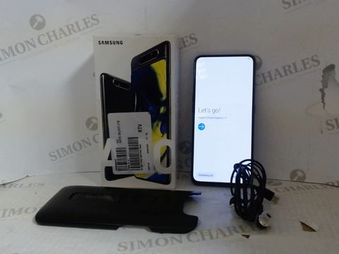 Lot 4207 SAMSUNG GALAXY A80 128GB ANDORID SMART PHONE - PHANTOM BLACK