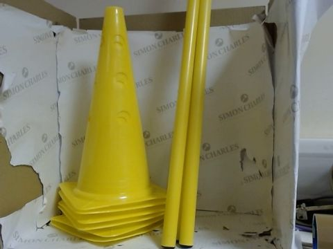 Lot 7903 ND SPORTS CONES AND POLES OBSTACLE SET WITH 6 CONE AND 3 POLES - YELLOW