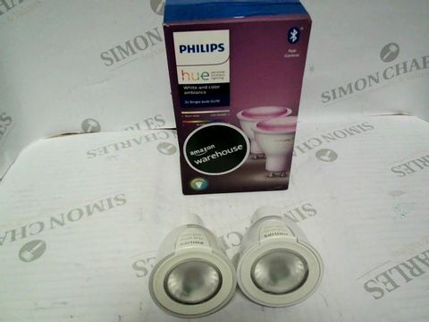 Lot 7529 PHILIPS HUE WHITE AND COLOUR AMBIANCE SMART SPOTLIGHT