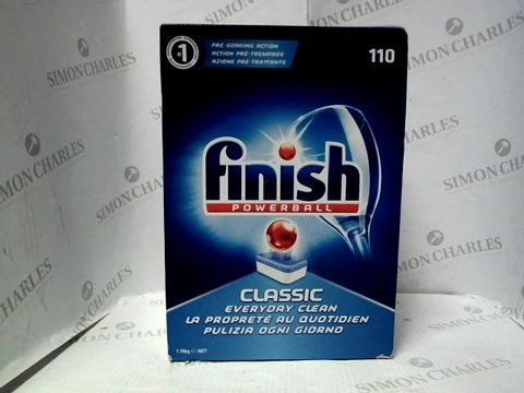 Lot 7632 FINISH POWERBALL BOX OF 110 DISHWASHER TABLETS