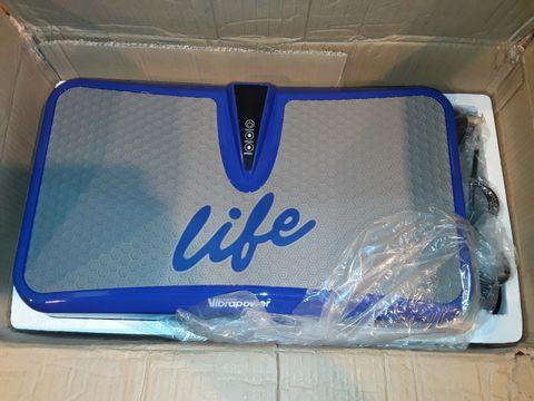 Lot 1155 VIBRAPOWER LIFE EXERCISE MACHINE - BLUE