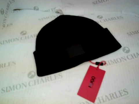 Lot 1098 HUGO BOSS BEANIE HAT BLACK