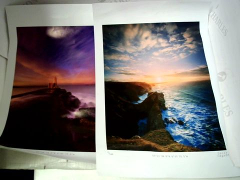 Lot 1844 2 X CONOR EDGELL COSTAL PHOTOGRAPH PRINTS
