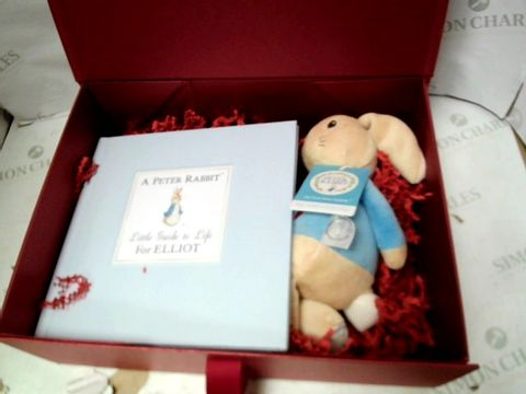 Lot 15078 PERSONALISED PETER RABBIT GUIDE TO LIFE GIFT BOX  RRP £51.00
