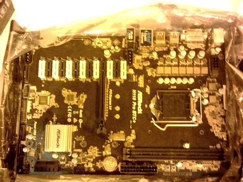 Lot 11641 ASROCK H110 PRO BTC+ INTEL H110 1151 ATX DESIGNED FOR CRYPTO MINING