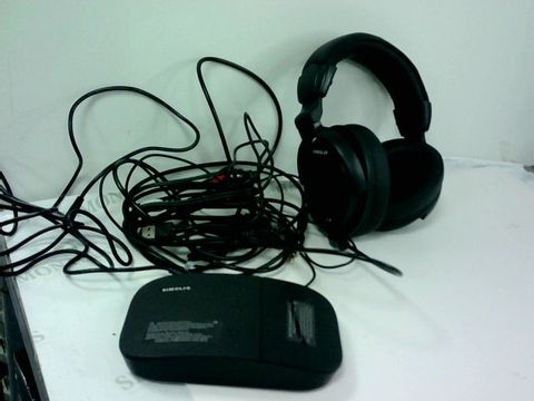 Lot 4217 SIMOLIO SM-825D PRO HEARING PROTECTION WIRELESS TV HEADPHONES FOR SENIORS AND HARD OF HEARING, DIGITAL WIRELESS HEADPHONES WITH OPTICAL FOR TV, 2.4GHZ TV HEARING DEVICE