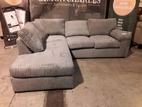 Lot 510 DESIGNER GREY JUMBO CHORD CHAISE SOFA