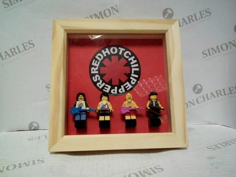 Lot 7300 RED HOT CHILI PEPPERS LEGO FRAMED PICTURE
