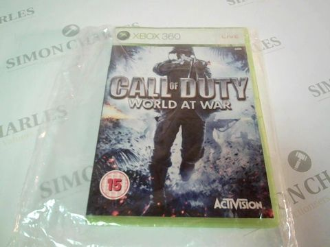 Lot 4860 XBOX 360 CALL OF DUTY WORLD AT WAR