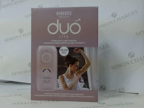 Lot 16156 BRAND NEW BOXED HOMEDICS BEAUTY DUO LITE PERMANENT HAIR REMOVAL