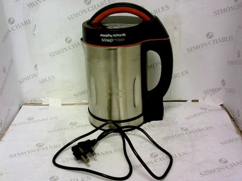 Lot 335 MORPHY RICHARDS 48822 SOUP MAKER, STAINLESS STEEL 1000W, 1.6L