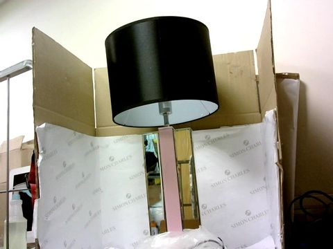 Lot 10432 JM BY JULIEN MACDONALD TWO TONED LAMP WITH BLACK DRUM SHADE