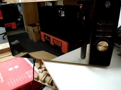 Lot 229 SWAN 23L DIGITAL MICROWAVE IN BLACK RRP £89.99