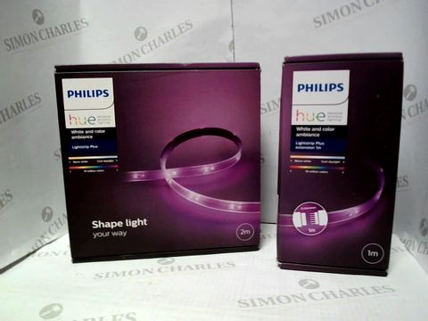 Lot 557 PHILIPS HUE LIGHTSTRIP PLUS 2M + 1M EXTENSION RRP £90.00
