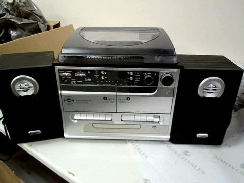 Lot 13474 STEEPLETONE STERRO MUSIC CENTRE WITH TURNTABLE, TWIN CASSETTE DECKS, CD PALYER & TUNER