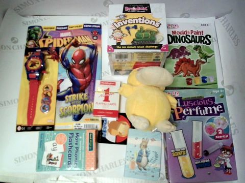 Lot 106 A SMALL BOX OF ASSORTED TOYS AND GAMES