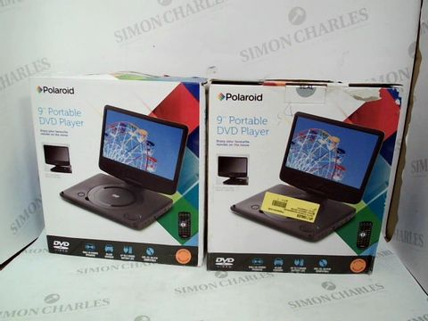 "Lot 10554 LOT OF 2 ASSORTED POLAROID 9"" PORTABLE DVD PLAYERS"