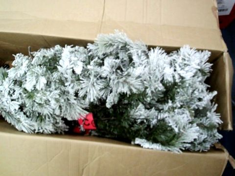 Lot 11027 WE R CHRISTMAS 7FT SLIM FLOCKED SPRUCE TREE