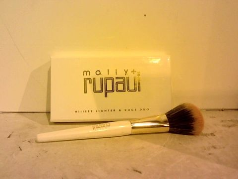Lot 1518 MALLY X RUPAUL HIIEEE-LIGHTER & RUGE DUO & BLUSH BRUSH