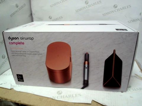 Lot 10346 DYSON AIRWRAP COMPLETE GIFT EDITION STYLER - COPPER/SILVER EFFECT