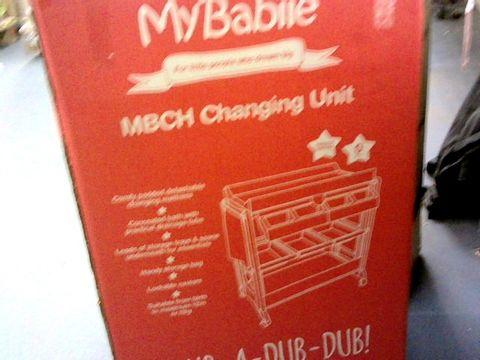 Lot 9233 MY BABIIE GREY MARBLE BABY BATH AND CHANGING UNIT RRP £139.99