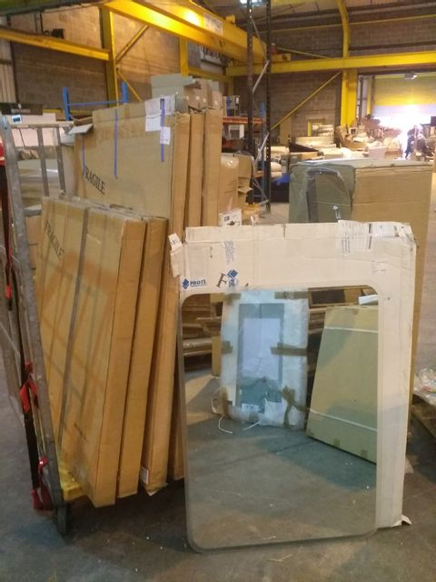 Lot 10725 CAGE OF 6 ASSORTED BATHROOM MIRRORS
