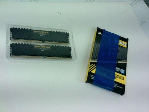 Lot 4182 CORSAIR CMK16GX4M2D3000C16 VENGEANCE LPX 16 GB (2 X 8 GB) DDR4 3000 MHZ C16 XMP 2.0 HIGH PERFORMANCE DESKTOP MEMORY KIT, BLACK